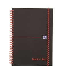 Oxford Black n´Red, PP, A5, linieret