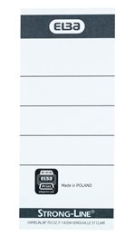 10 forhåndstrykte ELBA Strong-Line-ryggetiketter til 8 cm brevordnere