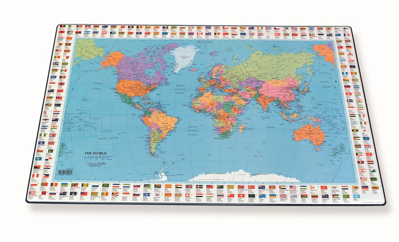 Bantex desk pad with world map hamelin other information gumiabroncs Image collections